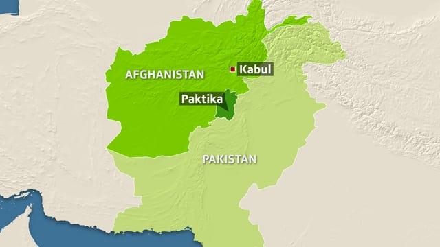 Karte von Afghanistan.