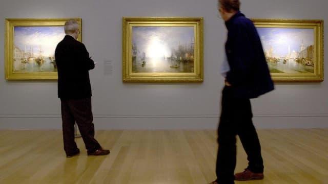 Drei Bilder von William Turner im Museum
