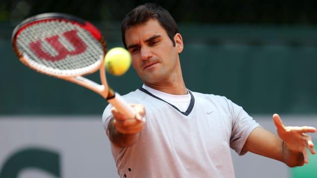 Roger Federer steht kommende Woche beim ATP-Turnier in Hamburg im Einsatz.