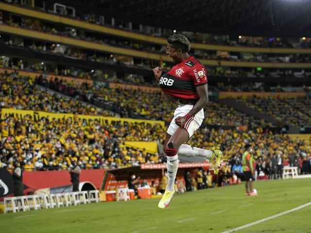 Flamengos Doppeltorschütze Bruno Henrique.
