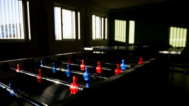 Ein Freizeitraum im Jugendgefängnis in Palézieux