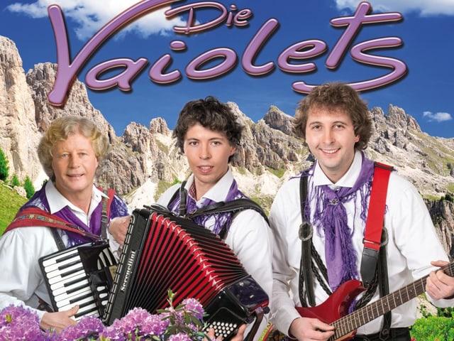 Drei Volksmusikanten auf einem CD-Cover.