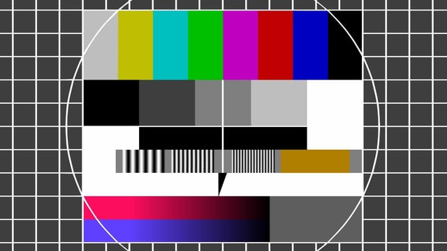 TV-Test-Bildschirm / Störsignal