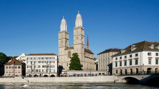 Die Stadt Zürich bei Postkartenwetter