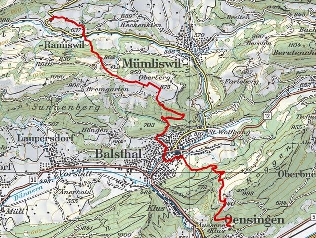 Etappe 4: Ramiswil- Bechburg