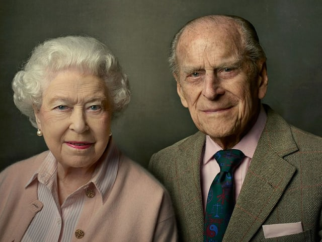 Die Queen und Prinz Philip (Porträtaufnahme)