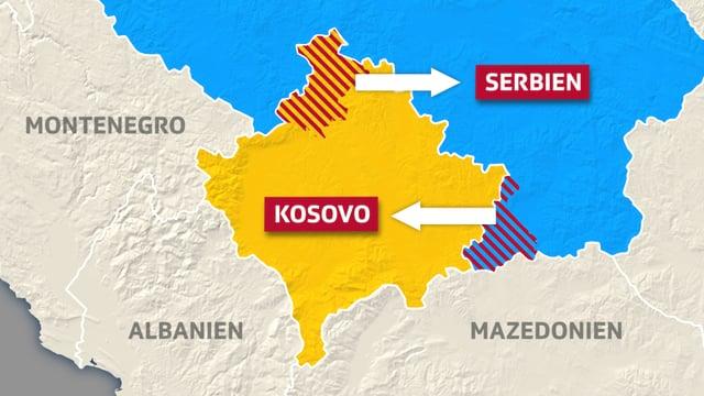 Karte Kosovo.