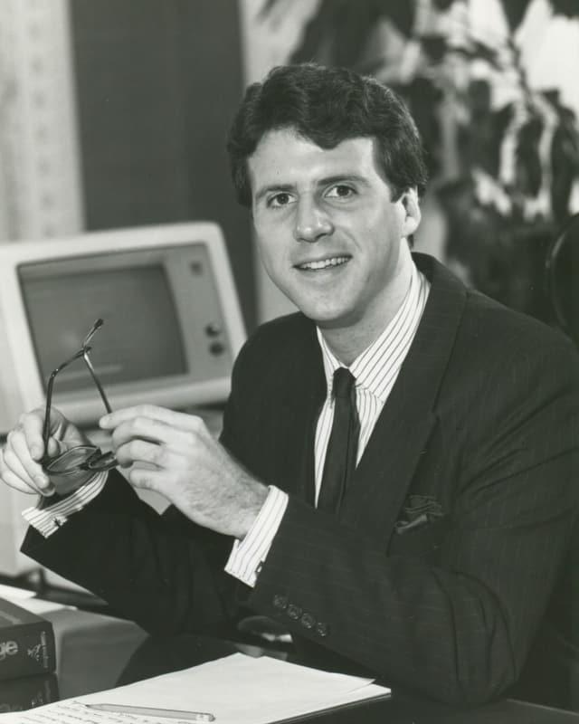 Peter Robinson als jungen Redenschreiber