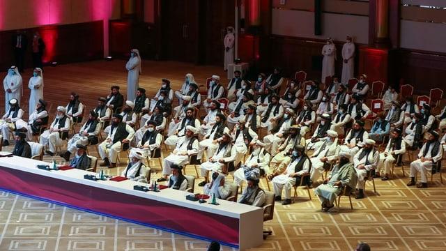 Eine Delegation der Taliban in Doha