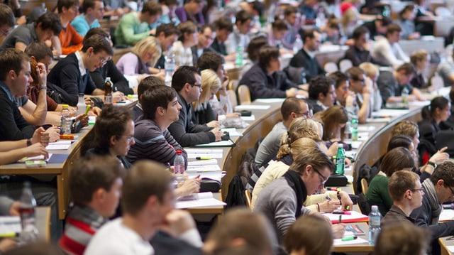 Studierende an der HSG in St. Gallen werden auff Masterstufe oft zu gut benotet.