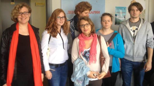 Gruppenbild mit Basler Slawistik-Studentinnen und -Studenten