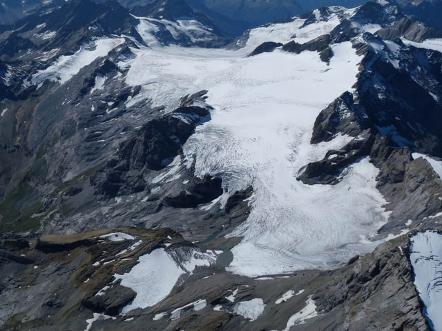 Bild des Gletschers auf dem Claridenfirn.