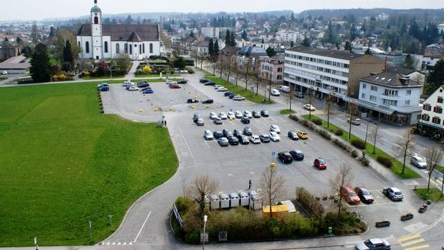 Der Bärenplatz aus der Vogelperspektive. Hier soll das neue Stadthaus entstehen.
