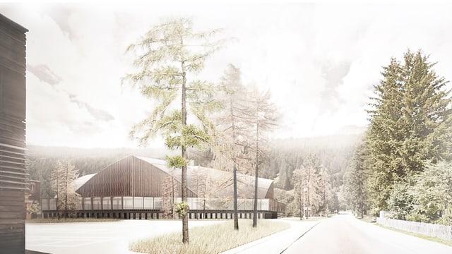 Visualisierung der Sanierung der Eishalle in Davos