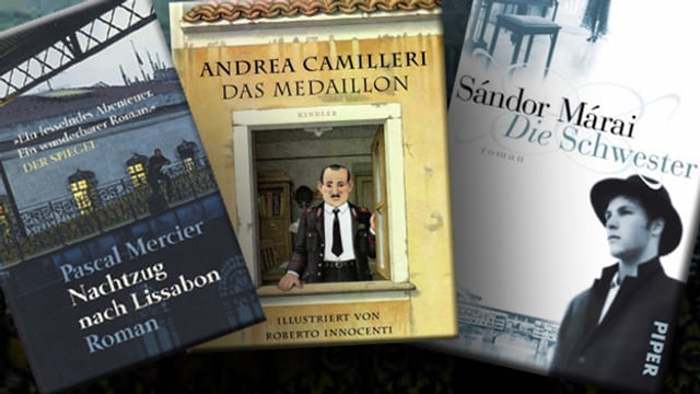 Buchcover von Pascal Mercier, Andrea Camilleri und Sandor Marai