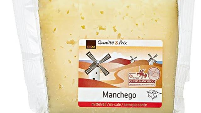 Aufnahme einer Manchego-Käseverpackung.