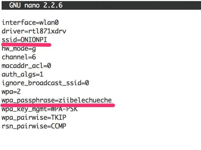 Das Konfigurations-File von hostapd
