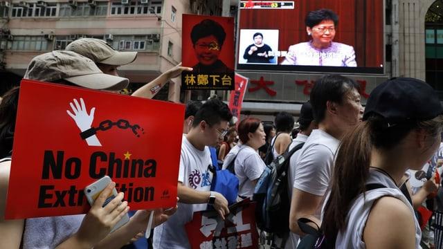 Demonstrants a Hongkong.
