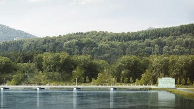 Visualisierung des geplanten Damms
