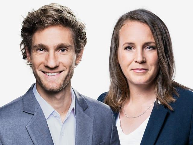 Doppelbild mit Manuel Köng und Nora Häuptle.