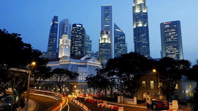 Skyline Singapur.