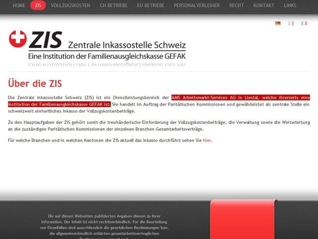 Auszug aus der Website der ZIS.