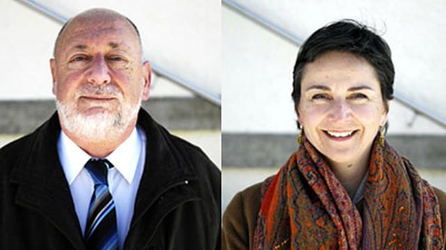 Der langjährige FDP-Ammann Hans Ulrich Reber (neu parteilos) und die FDP-Herausfordererin Karin Funk Blaser.