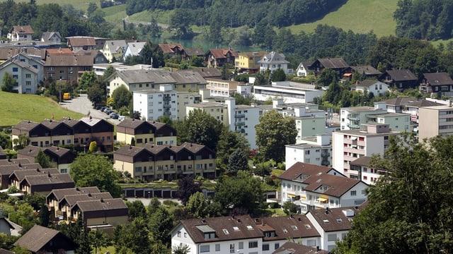 Das Dorf Ebikon im Kanton Luzern.