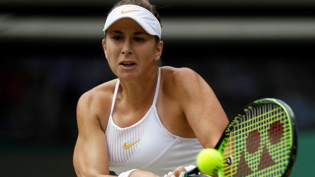 La giugadra da tennis svizra Belinda Bencic en acziun