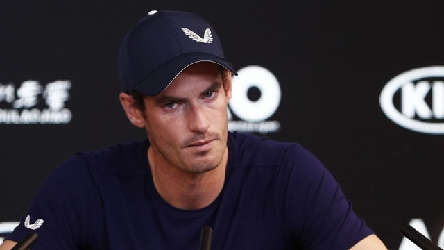Andy Murray durant conferenza da pressa.