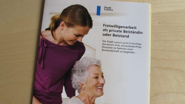 Broschüre der Stadt Luzern für die Freiwilligenarbeit