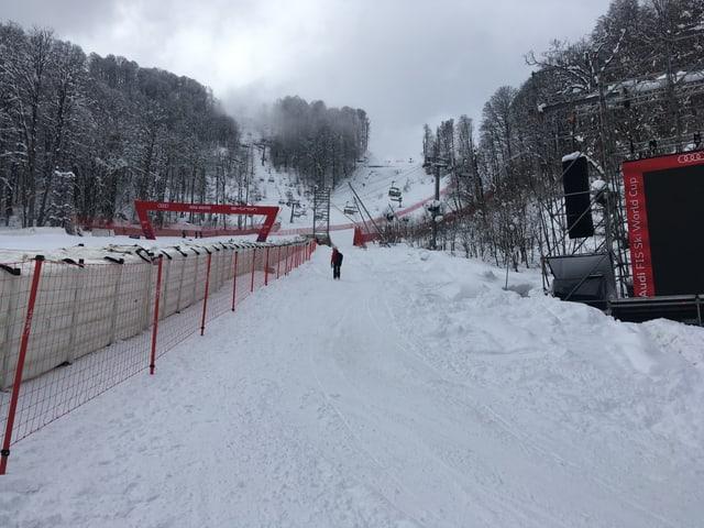 Viel Neuschnee in Sotschi