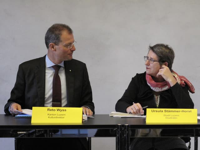 Als Kulturdirektor des Kantons arbeitet Wyss häufig mit Ursula Stämmer (Bildungsdirektorin der Stadt Luzern) zusammen.