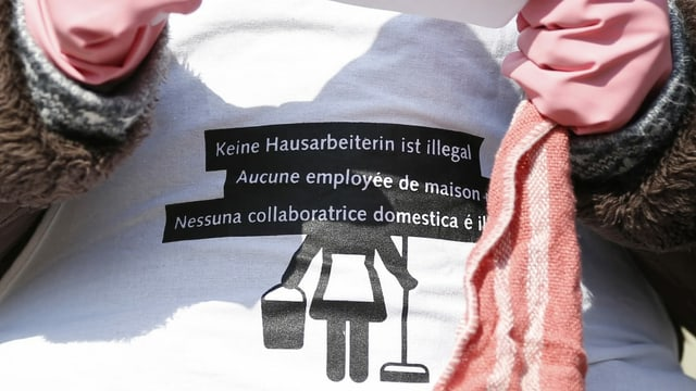 Hausangestellte ohne legalen Aufenthaltsstatus demonstrieren für ihre Recht. (Archiv 2014)