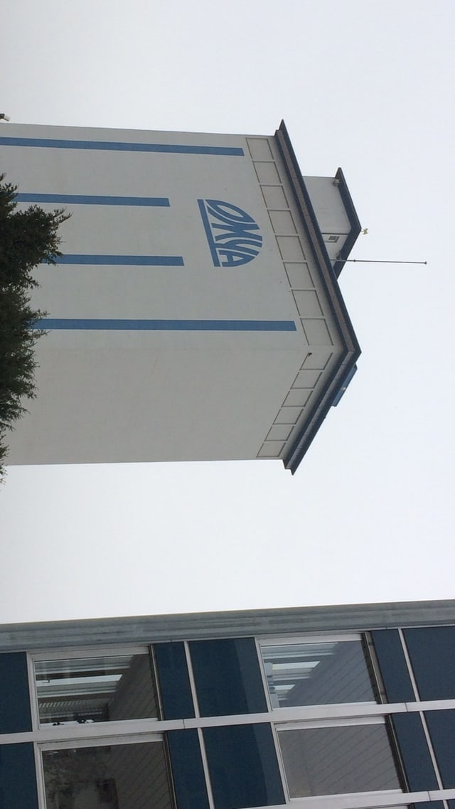 Gebäude mit Omya-Logo