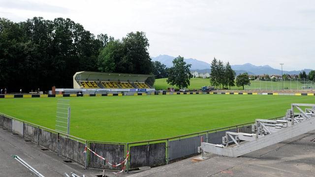 Fussball-Stadion.