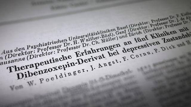 """Dokument, auf dem steht: """"Therapeutische Erfahrungen an fünf Kliniken..."""""""
