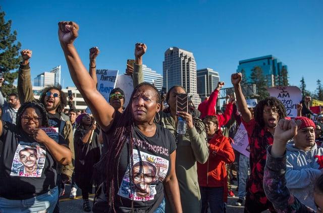 Demonstranten der Black-Lives-Matter-Bewegung