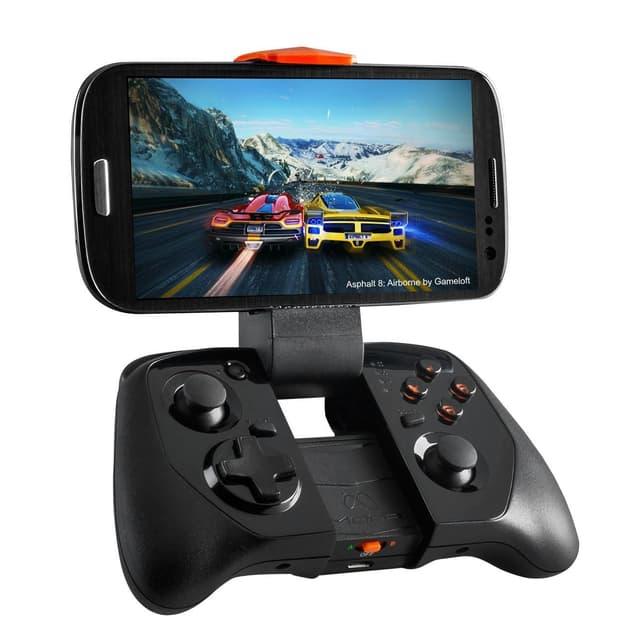 Ein Gamecontroller mit einem Samsung-Smartphone eingespannt