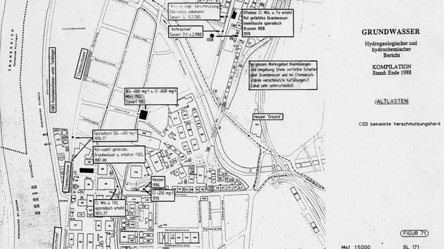 Karte aus dem Jahr 1988