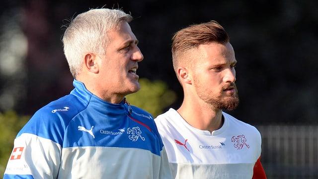 Trainer Vladimir Petkovic schenkt Frankfurt-Stürmer Seferovic das Vertrauen gegen England.