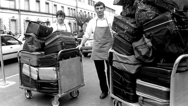 Saisoniers protestieren im Jahr 1992 gegen die neue Ausländerregelung.