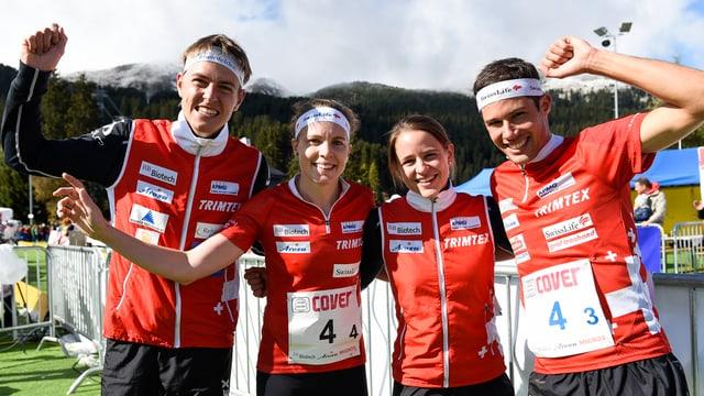 Matthias Kyburz, Sara Luescher, Rahel Friedrich e Martin Hubmann