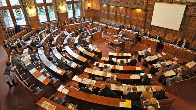 Der Grosse Rat in Basel.