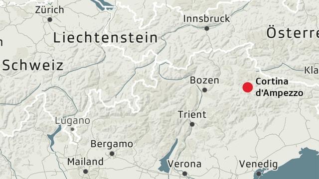 Karte von Cortina