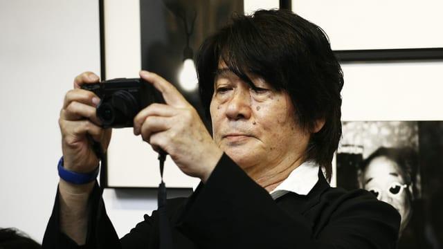 Portrait des japanischen Fotografen Daido Moriyama.