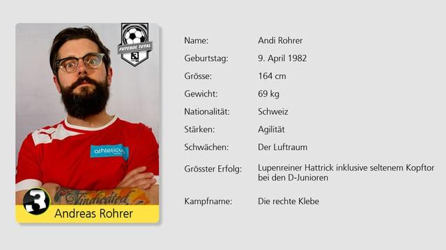 Der Mann mit dem Bart: SRF 3 Moderator Andi Rohrer.