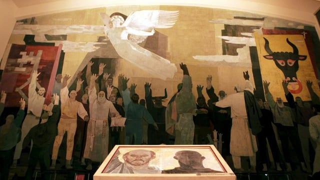 Wandbild im Bundesbriefmuseum