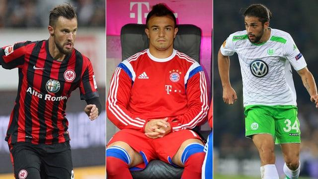 Haris Seferovic, Xherdan Shaqiri und Ricardo Rodriguez.