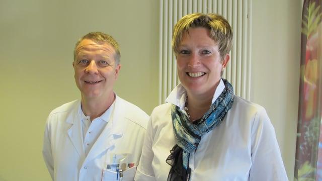 Fachleute für Altersmedizin: Geriater Bernhard Flückiger und Pflegeleiterin Caroline Nyfeler.